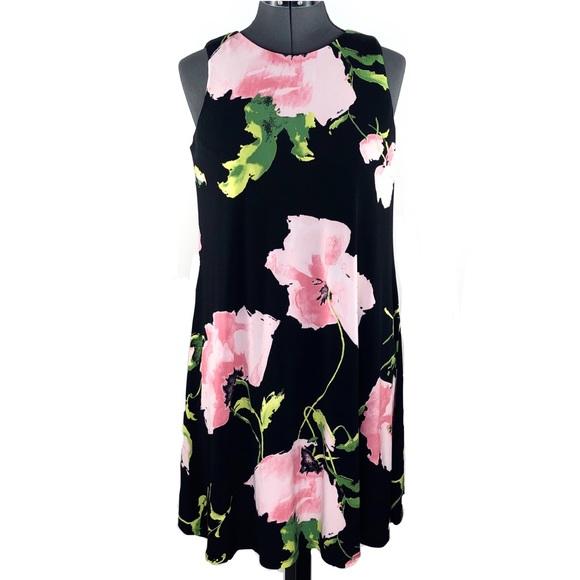 Anne Klein Dresses & Skirts - Anne Klein Black Print Sleeveless Dress Size 6